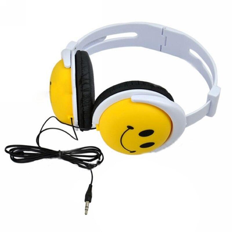 Bonne affaire sourire visage garçons filles enfant casque écouteur casque pour ordinateur MP3 MP4 PSP DJ