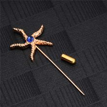 SHUANGR Hot Sale Brooches For Women New Lovely Starfish Retro Fashion Crystal Brooches For Women Fashion Jewelry 1PCS(China)