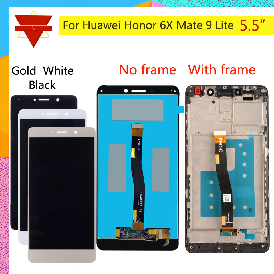 10Pcs lot For HUAWEI Honor 6X LCD Display Touch Screen with Frame GR5 2017 LCD For