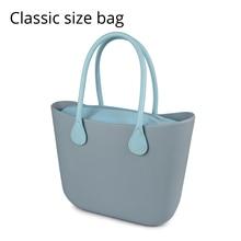 099c70955c2fe 2018 جديد الكلاسيكية إيفا حقيبة مع إدراج جيب داخلي مقابض الملونة إيفا السيليكون  المطاط للماء النساء