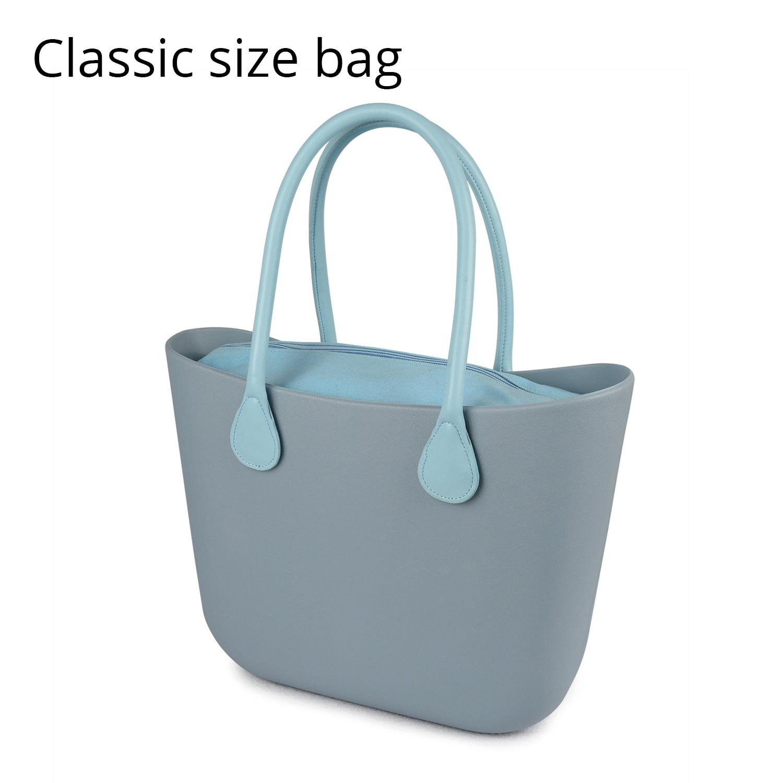 2018 Nouveau Classique EVA Sac avec Insert Poche Intérieure Poignées Coloré EVA De Silicium En Caoutchouc Étanche sac à main des femmes Obag Style
