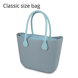 2019 neue Obag Stil Klassische EVA Tasche mit Legen Inneren Tasche Griffe Bunte EVA Silicon Gummi Wasserdichte Frauen Handtasche