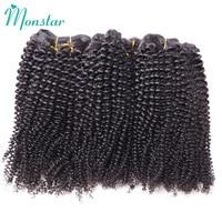 Monstar Unprocessed Human Hair Weave Remy Peruvian Hair 1/3/4 Bundles Afro Kinky Curly Hair Bundles 10 26 Inch Free Shipping