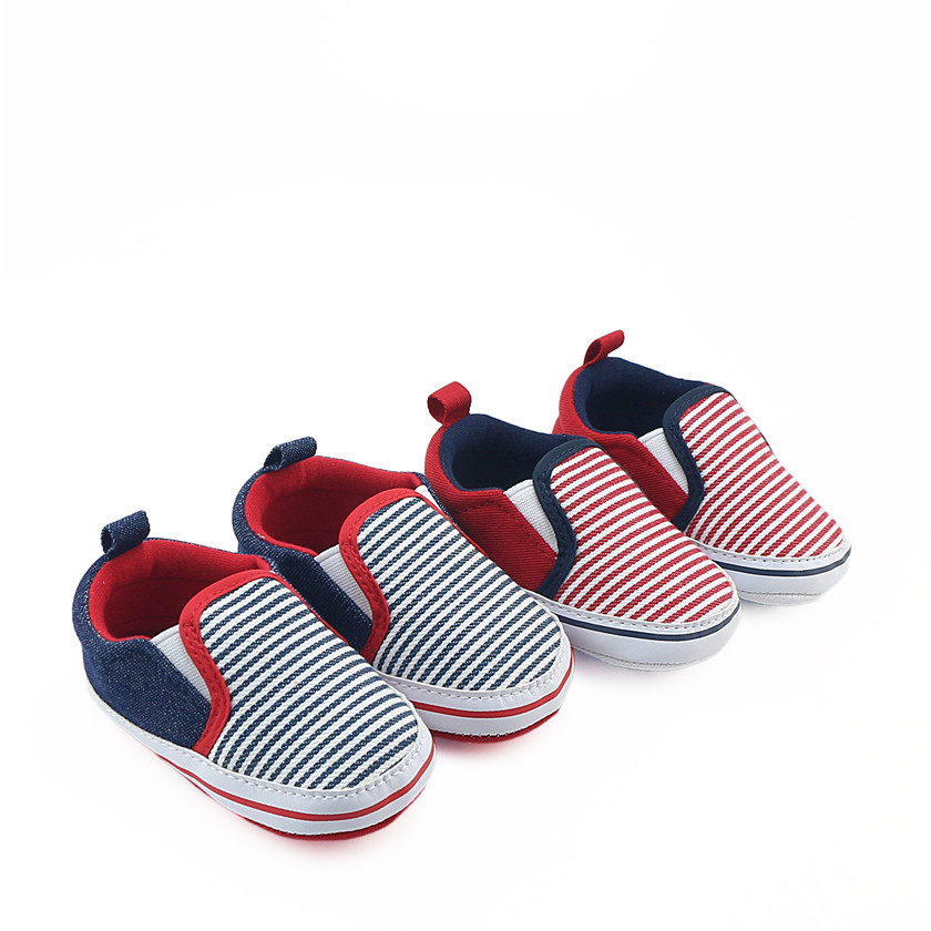Fashion Striped Baby Boys Casual Shoes Soft Sole Infant Toddler Shoes Crib Shoes