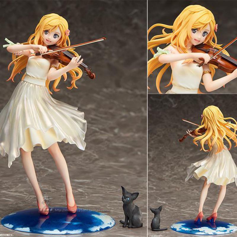 Nouveau violon votre mensonge en avril Miyazono Kaori japonais Anime figurines Action jouet Kakarotto Pvc modèle Collection pour le meilleur cadeau