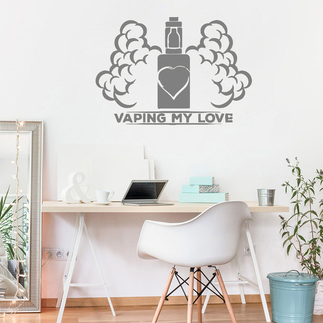 wall window decal sticker new design vape shop vaping home interior