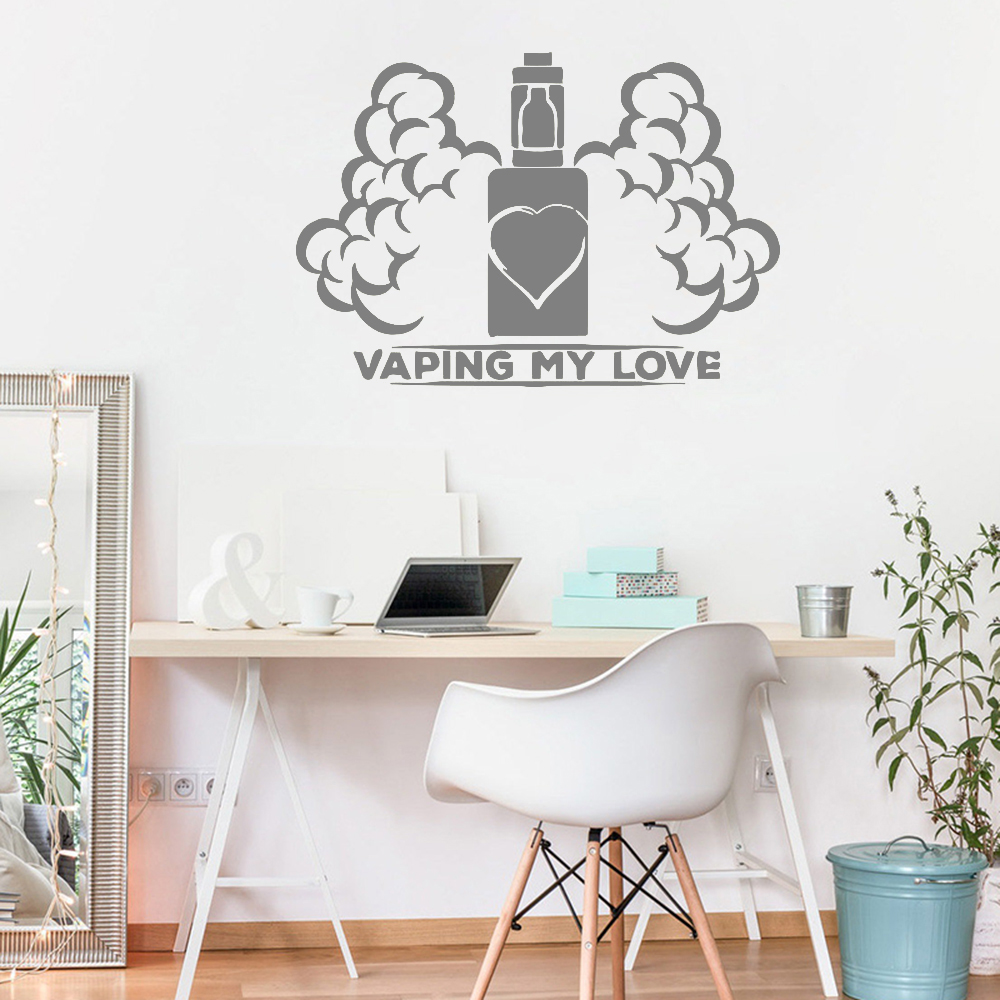 Wall Window Decal Sticker New Design Vape Shop Vaping Home Interior Wall Decorative Viny ...