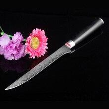"""6 """"inche boning messer Damaskus küchenmesser VG10 japanischen damaskus stahl boning messer Schwarz Micarta griff fisch werkzeug Geschenk faca"""