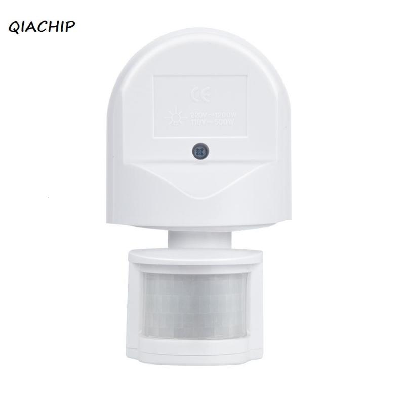 QIACHIP Infrared Motion Sensor 220V 50Hz 180 Degree Outdoor Security PIR Infrared Motion Sensor Detector Automatic Switch  H3 new 180 degree security pir infrared motion sensor detector movement switch white automatic convenient durable