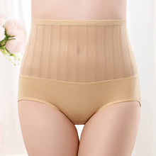 Women cotton Underpant High Waist Breathable Trigonometric Panties Plus Size Female Underwear Body Shaping Jacquard  Briefs
