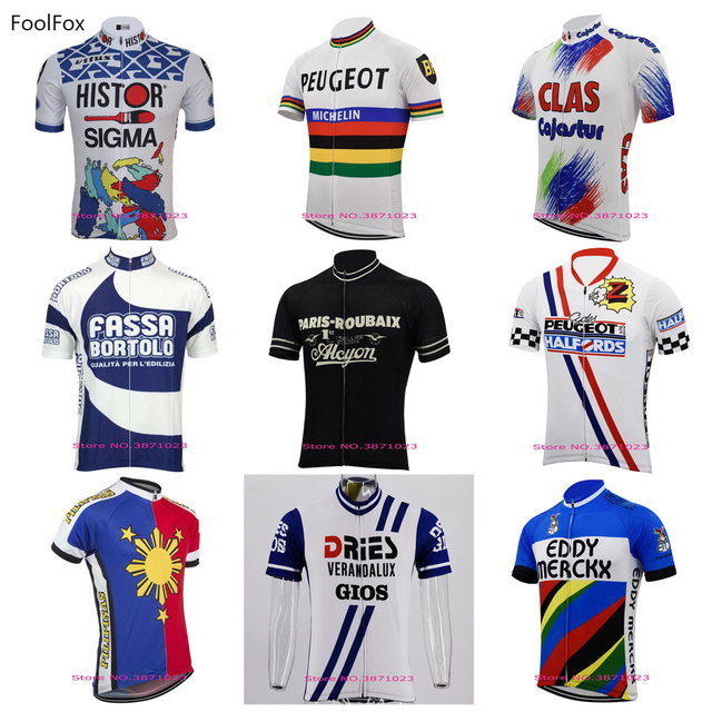 70c24a946 New Men s retro cycling jersey 2018 pro team summer classic short-sleeves  quick dry bike wear bicycle clothing FoolFox