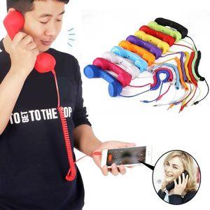 Для мобильного телефона 3,5 мм с микрофоном, ретро-телефон, сотовый телефон, приемник, радиационная защита