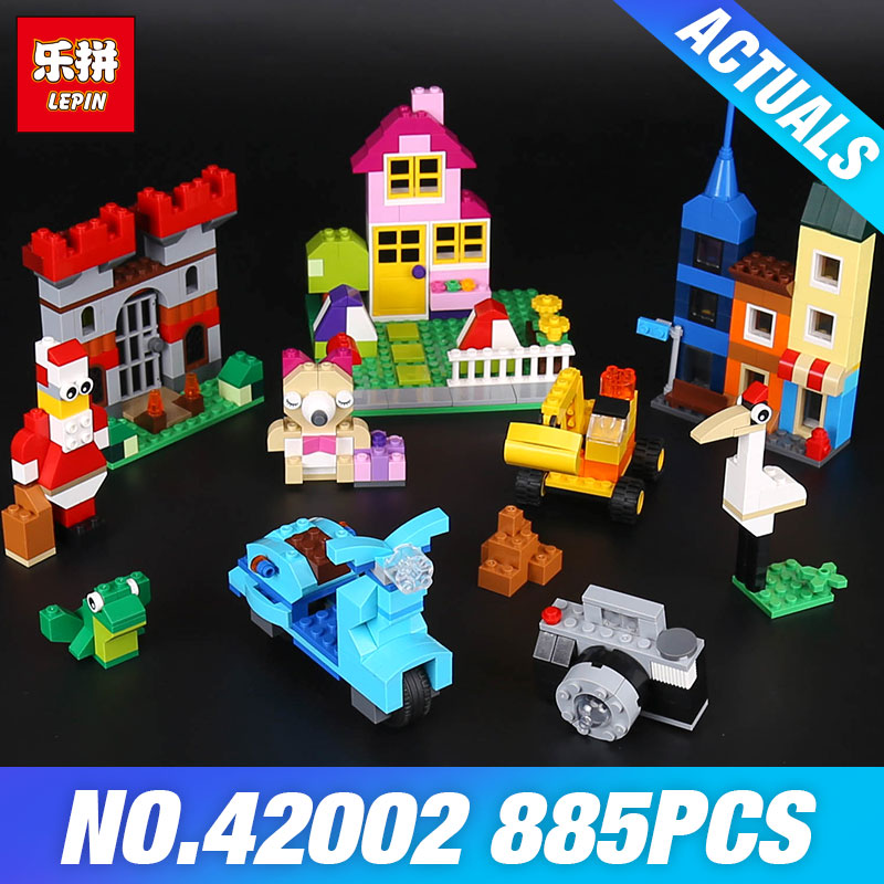 Lepin 42002 840Pcs Genuine Creative Series The Large Brick Box Builing Blocks Bricks Children Educational Toys Model Gifts 10698 степлер мебельный со скобами sparta 42002