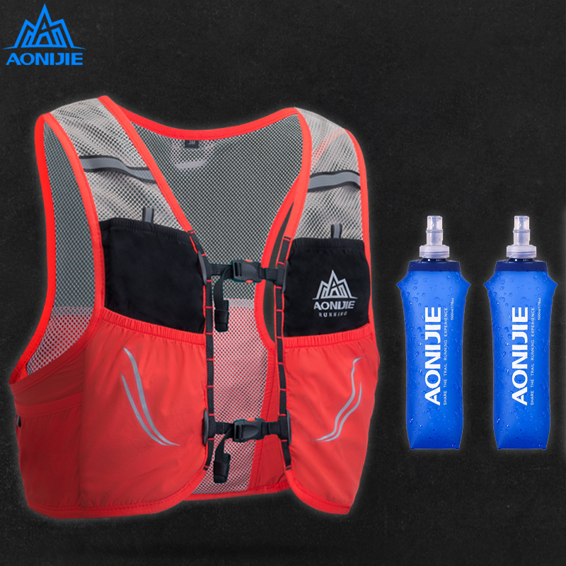 AONIJIE 2.5L Trail Running Vest Backpack Lightweight Breathable Cycling Marathon Ultralight Hiking Sport Bag 500ml Soft Flask