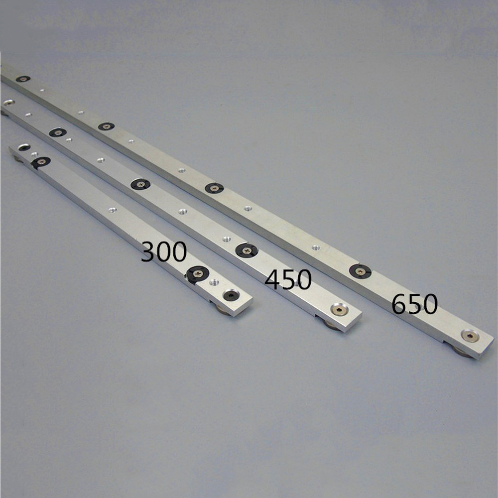 Aluminium Alloy T-tracks Slot Rail Miter And Miter Bar Slider Table Saw Miter Gauge Rod Woodworking DIY Tool 300/450/650/850MM