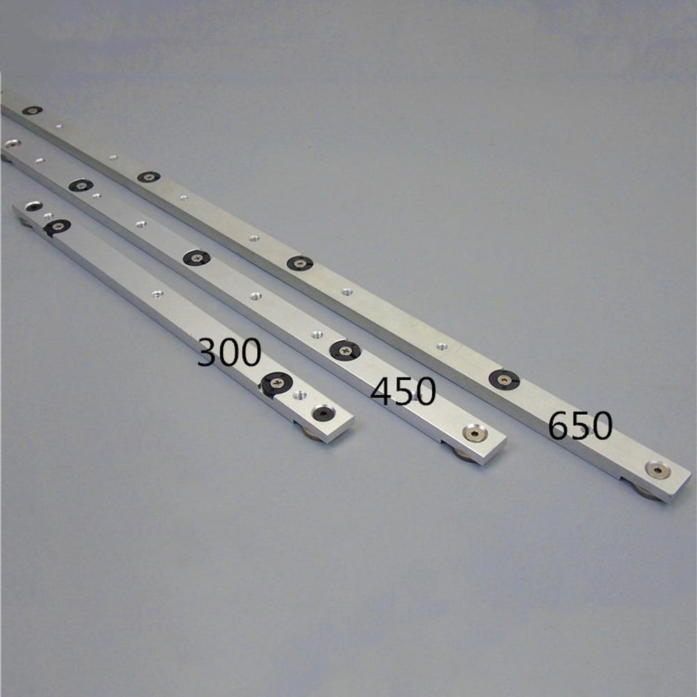 Aluminium Alloy T-tracks Slot Rail Miter And Miter Bar Slider Table Saw Miter Gauge Rod Woodworking DIY Tool 300/450/650/850MM