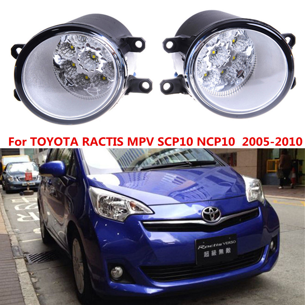 For TOYOTA RACTIS MPV SCP10 NCP10  2005-2010 Car styling front bumper LED fog Lights high brightness fog lamps 1set for lexus rx gyl1 ggl15 agl10 450h awd 350 awd 2008 2013 car styling led fog lights high brightness fog lamps 1set