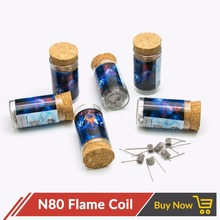 Volcanee N80 Flame Coil Prebuilt Coil Premade Heating Wire for Vape E cig Diy RTA RDA Atomizer Wire Coil