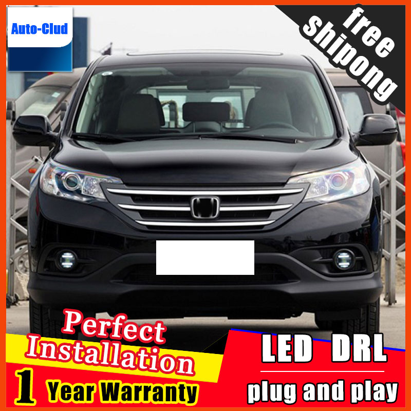 Car-styling LED fog light for Honda CRV 2012-2013 LED Fog lamp with lens and LED day time running ligh LED DRL car 2 function for opel astra h gtc 2005 15 h11 wiring harness sockets wire connector switch 2 fog lights drl front bumper 5d lens led lamp