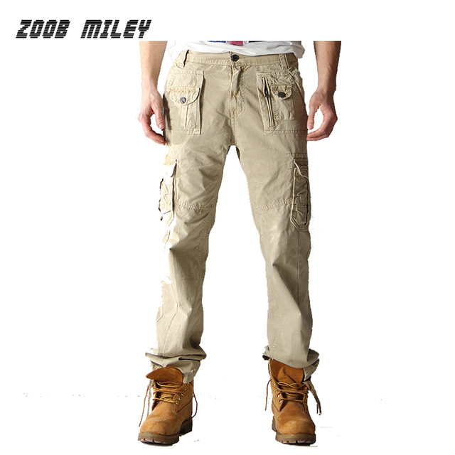 Military Tactical Cargo Outdoor Pants Men Loose Fit Multi Pockets