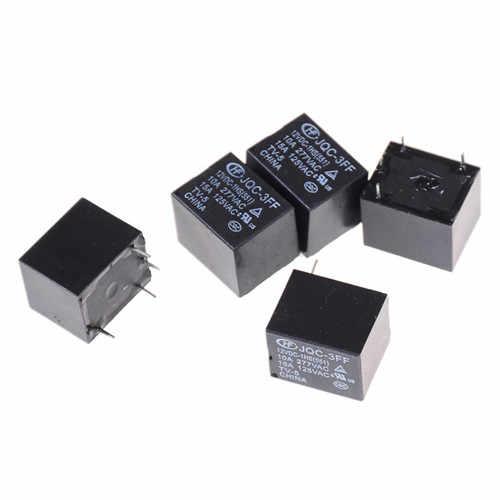 5 Pcs/lot Mini relais de puissance SRD-S-112DM 15A 125VAC 4 broches bobine relais de puissance 12 V DC