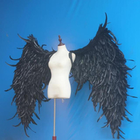 black Big Angle Wings Props DIY Customization for Cosplay photography Game Display Game Party Wedding wing costume props