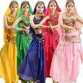 10 Colores Nuevo 2 unids Set Vestido de la danza Del Vientre Traje de la Danza Del Vientre Traje Indio de Bollywood Womens Danza Del Vientre Traje