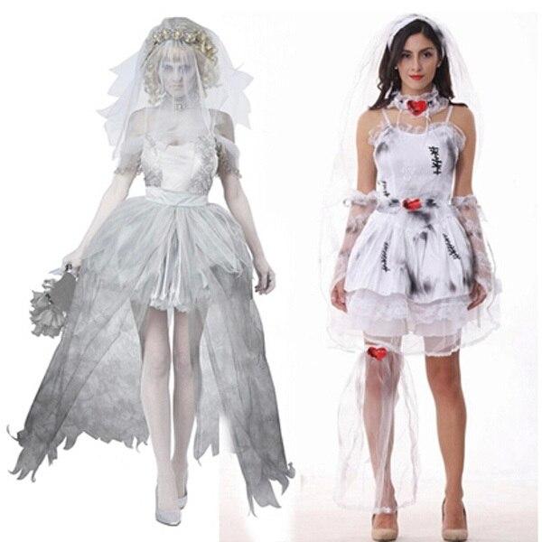 Noiva cadáver traje cosplay fantasia de Halloween ...
