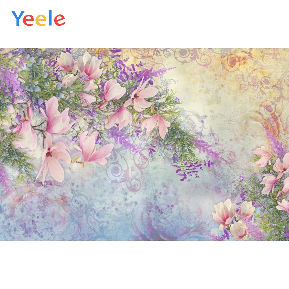 Yeele Wallpaper Flowers Elegant Style Room Decor Photography Backdrops Personalized Photographic Backgrounds For Photo Studio in Background from Consumer Electronics
