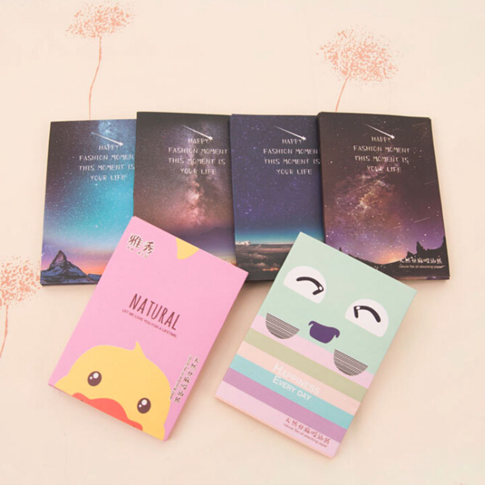 50 Sheets/Pack Makeup Facial Face Clean Oil Absorbing Blotting Papers Beauty Tools Pattern Random