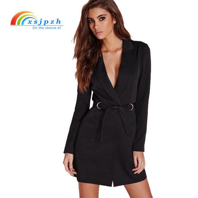 Xsjpzh De Printemps Européen Longues New Robe Blazer Manches Femmes wRxrzqgw