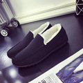2017 Winter Keep Warm Men Flats Fashion Men Casual Shoes Moccasins Loafers Quality Suede Drivng Shoes Zapatos Boat Shoes