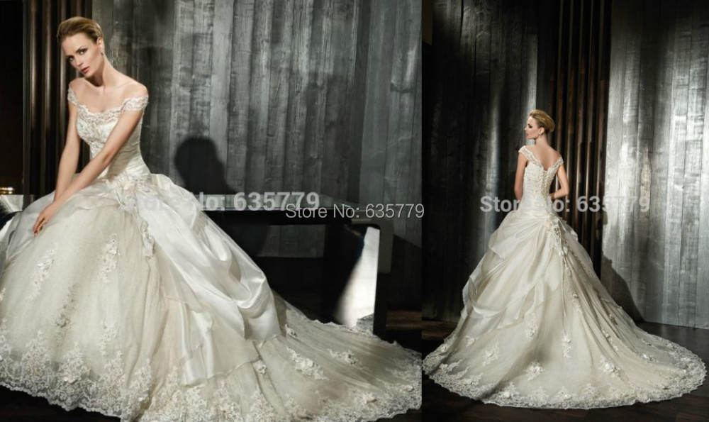 Ivory Ball Gown Wedding Dress: Best Stock New Noble High Quality Ball Gown White/ivory