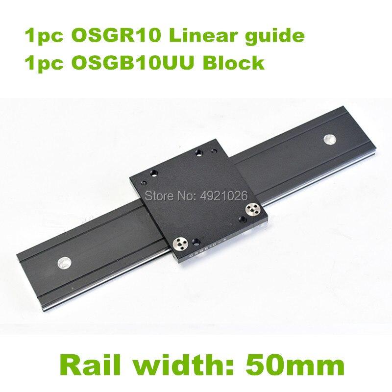 50 мм ширина алюминиевый ролик линейная направляющая внешняя двойная ось линейная направляющая 1 шт. OSGR10 700 800 900 1000 мм + 1 шт. OSGB10 блок