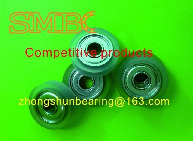 Press paper round  ATM PU Bearings Printing press PU roller 624 Size:4*18*5