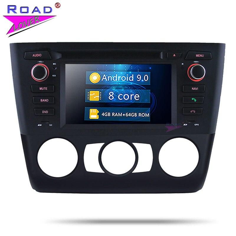 Roadlover Android 9.0 voiture PC DVD Autoradio lecteur pour BMW 1 série E81 E82 E88 manuel 2004-stéréo GPS Navigation Magnitol 2 Din