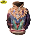 \Line Walker\New The dinosaur 3D Printing Galaxy Unisex Hoodies Sweatshirt Men Tarcksuit Hooded Jacket Homber