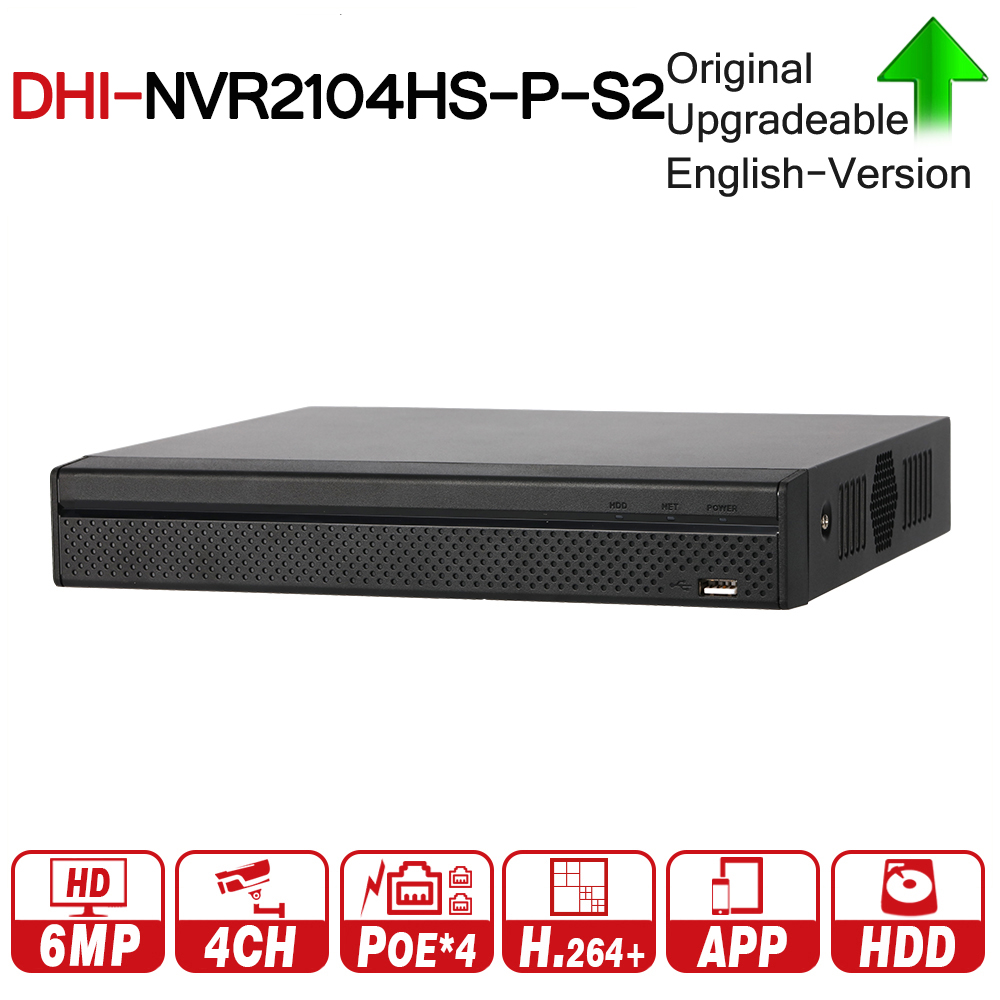 купить DH NVR2104HS-P-S2 4 Channel POE NVR Compact 1U 4PoE N Full HD Network Video Recorder 6MP Recording HDD Selectable по цене 8037.98 рублей