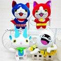 Anime Relógio Yo Kai Sussurro Yokai Jibanyan Komasan Brinquedos Jogo Kawaii Dos Desenhos Animados Do Gato de Pelúcia Recheado Dolls Caçoa o Presente 4 pçs/lote 20 cm