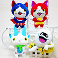 Anime Yokai Yo Kai Watch Whisper Jibanyan Komasan Plush Toys Kawaii Game Cartoon Cat Stuffed Dolls Kids Gift 4pcs/lot 20cm