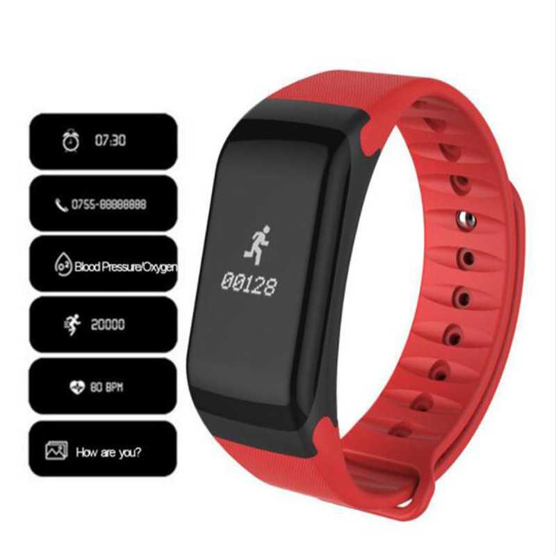 F1 Smartwatch Heart Rate Smart Watches Blood Pressure Monitor Fitness Bracelet Pulsometro Pedometer Smart Bracelet Pk fitbits