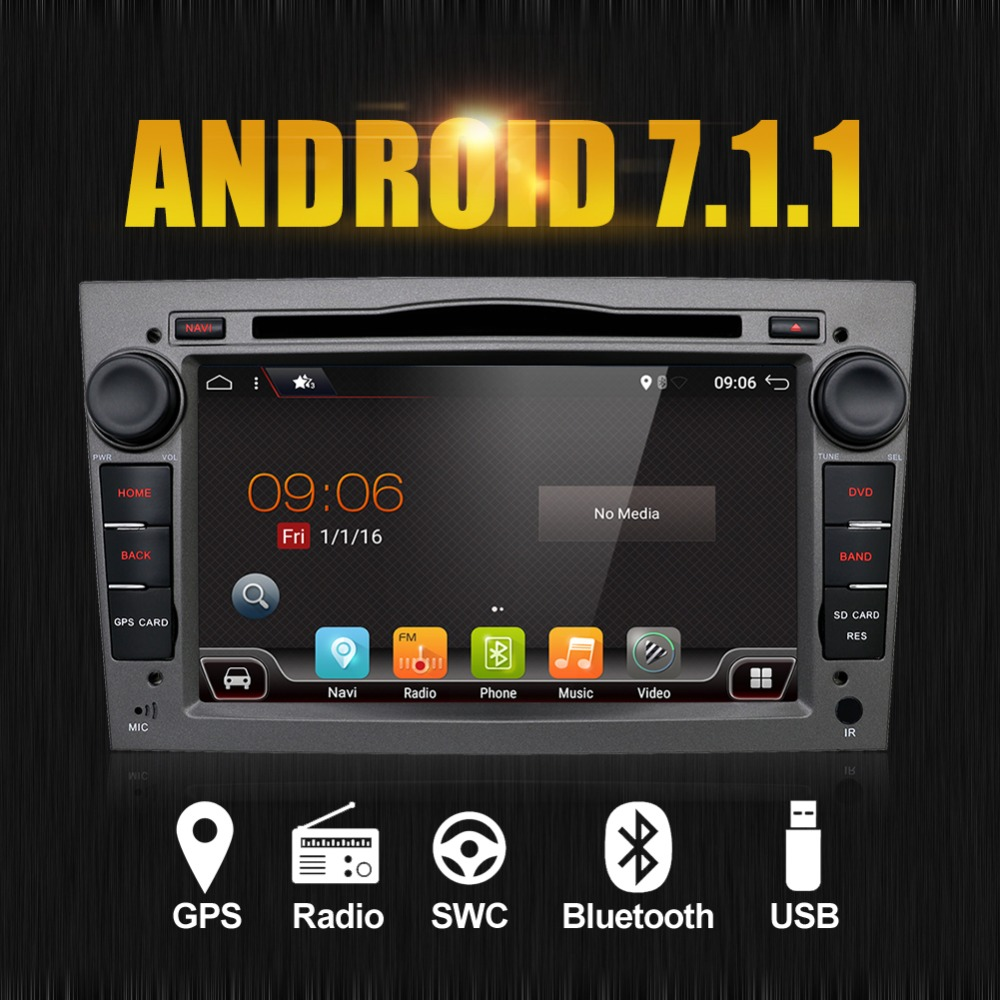 1024*600 4 ядра Android 7,1 dvd-плеер автомобиля для Vauxhall Opel Astra H G Vectra Антара Zafira DTV DAB (коробка опционально)