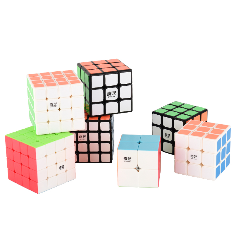 Colorful rubiks cube 3x3x3 4x4x4 Layers 3 by 3 Profissional Competition Speed Puzzle Magic Cube cool Toys for Boys cubo magico dayan bagua magic cube speed cube 6 axis 8 rank puzzle toys for children boys educational toys new year gift