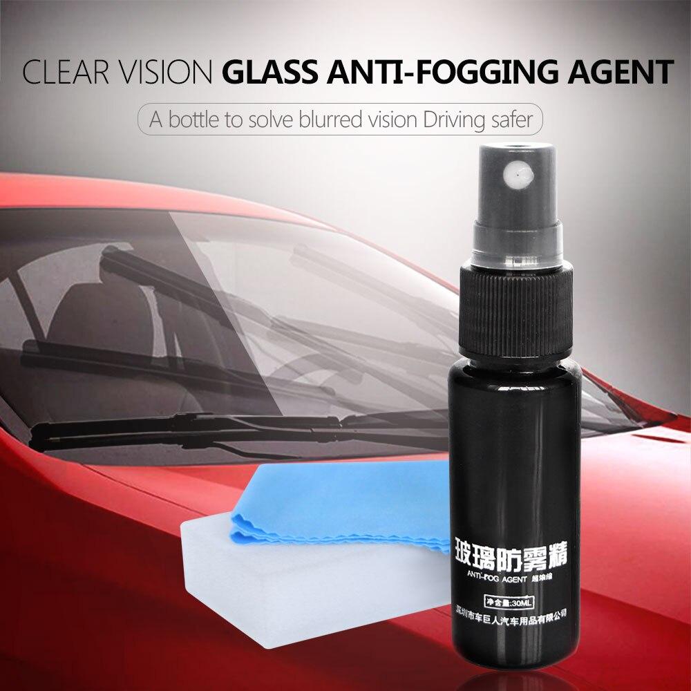 30 ml agente Anti-niebla duradera ventana de cristal líquido de vidrio Anti-niebla para parabrisas vidrio baño móvil pantalla del teléfono gafas