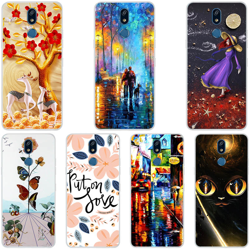 For LG K40 2019 Case Cartoon Silicone Phone Cover for LG K12 Plus Cases TPU Soft Fundas For LG X4 2019 Case LGK40 K 40 <font><b>K12Plus</b></font> image