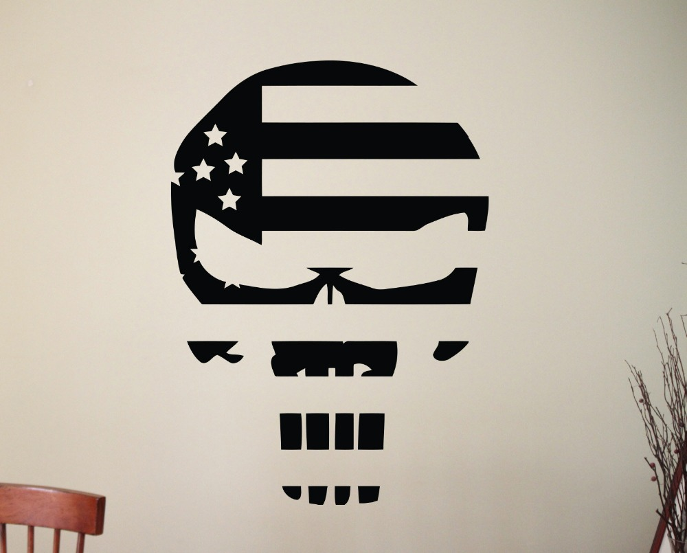 Cool Skull Silhouette Art Designed Wall Stickers Home ...