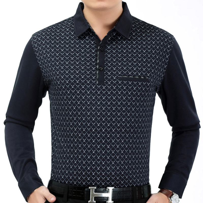 2018 hot mens clothing long sleeve   polo   shirt summer pol men argyle brands   polos   tee shirts dress streetwear male poloshirt 2182