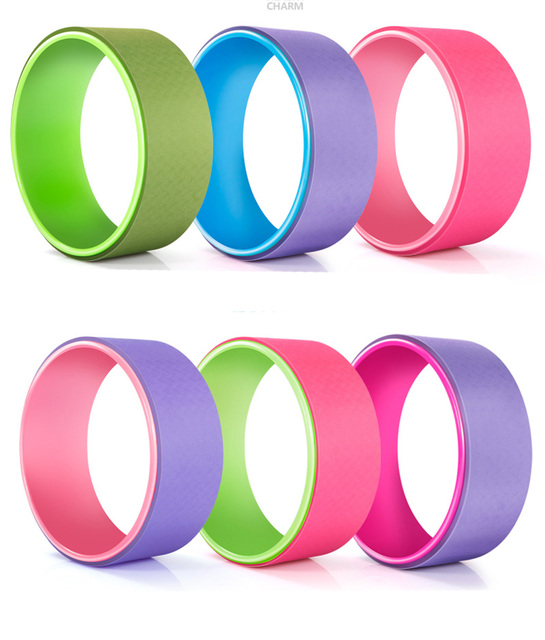 Yoga Pilates Circle TPE Yoga Fitness Roller Wheel Back Training Tool Slimming Magic Waist Shape Pilates
