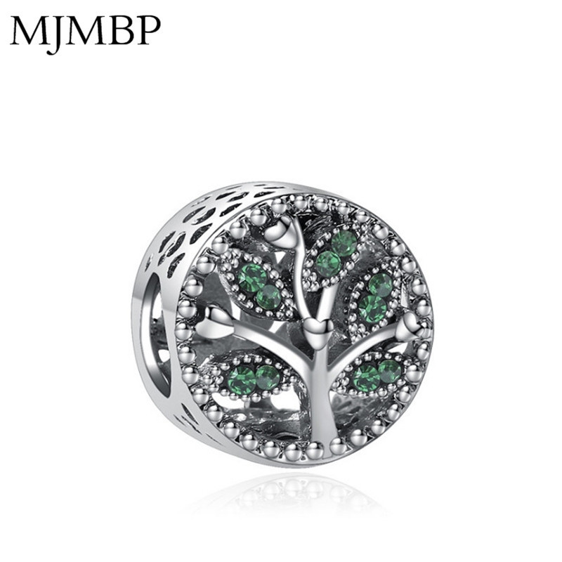 Green Tree of Life Crystal DIY Jewelry Charms Nice Beads Fit Pandoraa Gift For Bracelet & Necklaces Jewelry making Women Gifts