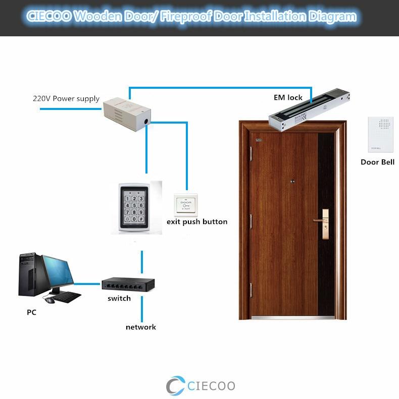 Metal Outdoor Keypad Access Control Door Locks+Door Bell for Home Office Security Look Pick Tool стоимость